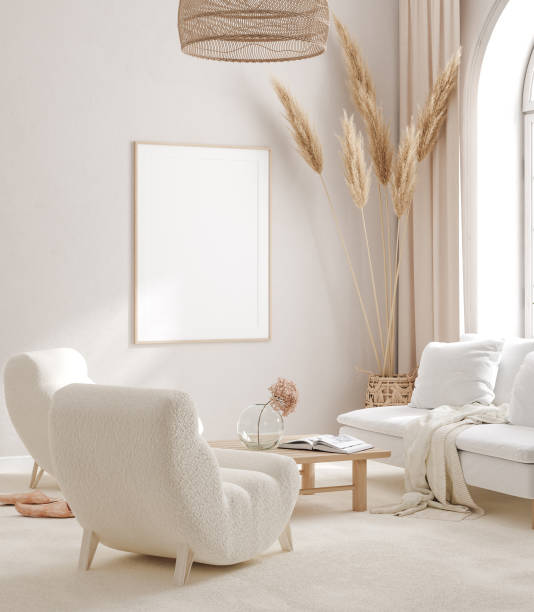 Дизайн белоснежной гостиной